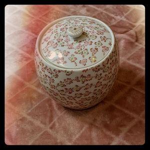 Vintage Tashiro Shoten Japan Handpainted Jar
